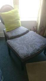 Chair and footstool