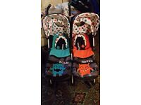 Cosatto cuddle monster double buggy REDUCED