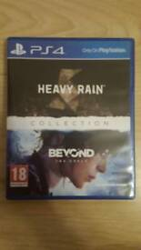 Heavy rain and beyond 2 souls collection for play station 4