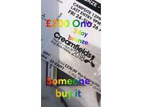 CREAMFIELDS 3 day bronze camping ticket