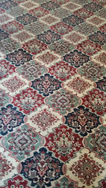 Good quality second hand 80/20 woven backed carpet for sale. Size 3.6m x 2.8m