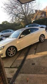 Mercedes Benz C250 CDI COUPE 125 WHITE HUGE SPEC PAN ROOF HARMAN KARDON CAMERA HEATED LEATHER COMAND