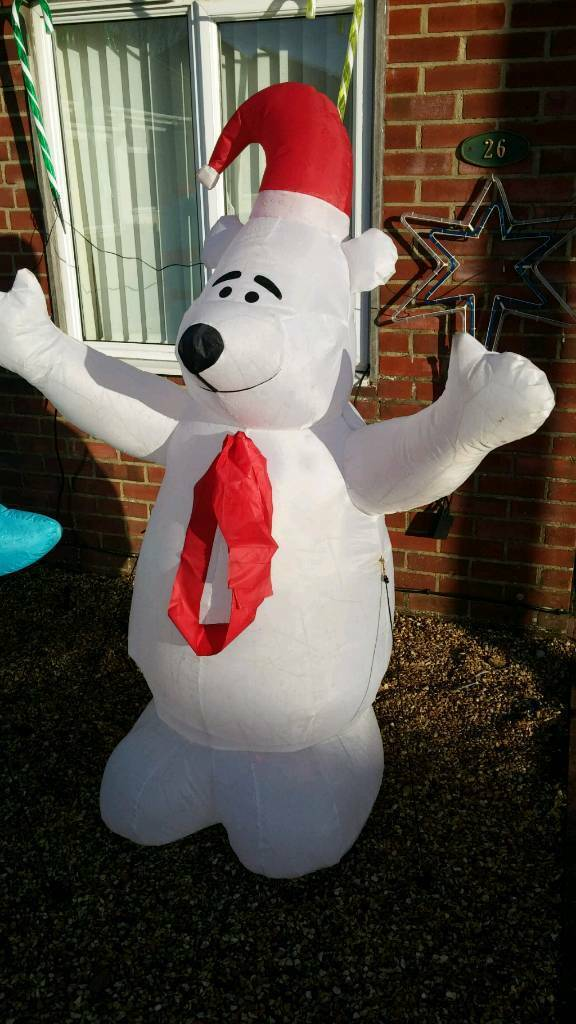 inflatable polar bear outdoor christmas decoration led lights