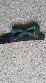 Tartan boys bow tie