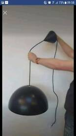 Large black Ikea Brasa light excellent condition