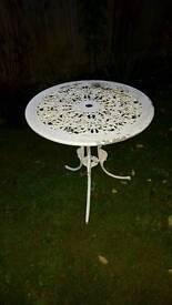 Ornate Cast aluminium garden table