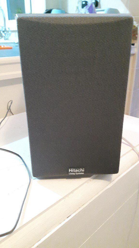 hitachi speakers. pair of hitachi speakers