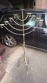 Floor standing Candelabra. Candle Stick. Wrought Iron