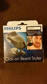 BNIB - Philips click on beard styler