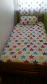 Children duvet cover and pillow cases with matching curtains