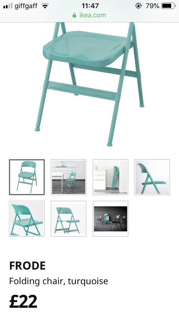 Fabulous Ikea Frode Folding Chair Dining Chair Turquoise In Warmley Bristol Gumtree Lamtechconsult Wood Chair Design Ideas Lamtechconsultcom