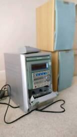 Aiwa cd/cassette/radio hi-fi system.