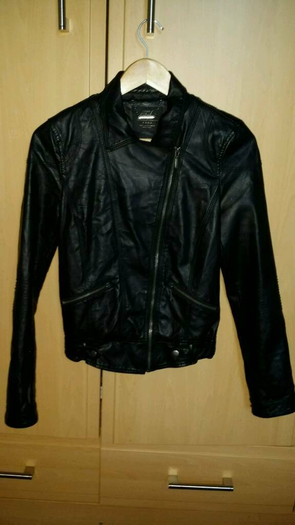 67c65e29 Zara faux leather jacket.   in Kirkcaldy, Fife   Gumtree