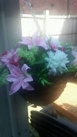 Made to order artificial hanging baskets