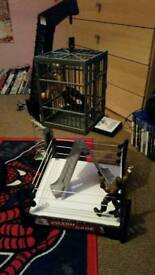 Wwe crash cage playset with 2 figures