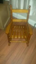 Child's rocking chair..NO TIMEWASTERS