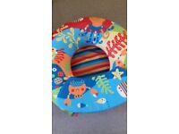 Inflatable sit up ring