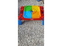 Mega Blocks Table and large bag of blocks