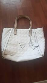 Guess white handbag