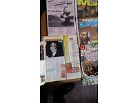 Vintage train and music magazine