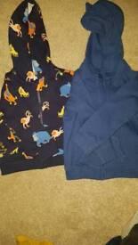 2 toddlers hoodie tops