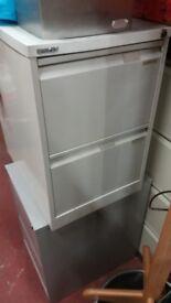 Bisley 2 drawer metal filing cabinet