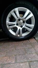"15"" alloys tyres 50% left removed from corsa"