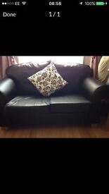Sofa black 2 seater