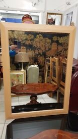 Lovely large mirror 113cm to 85cm, excellent condition