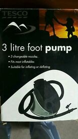 Foot pump for Inflatable beds, and other Inflatables