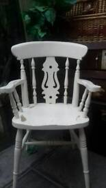 Shabby chic carver chair