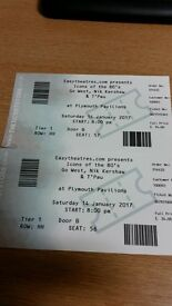 Tickets x2 for Icons of the 80's for 14/01/2017