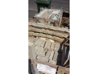 Patio tiles and york stone brick
