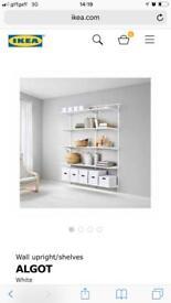 More than this Algot ikea shelves