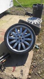 22 inch overfinch alloys /rangerover / vwt5