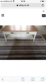 John Lewis 'Drift' coffee table with 2 drawers and shelf