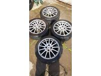 "15"" alloys with branded tyres"