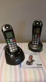 Telephone cordless handset twin set.