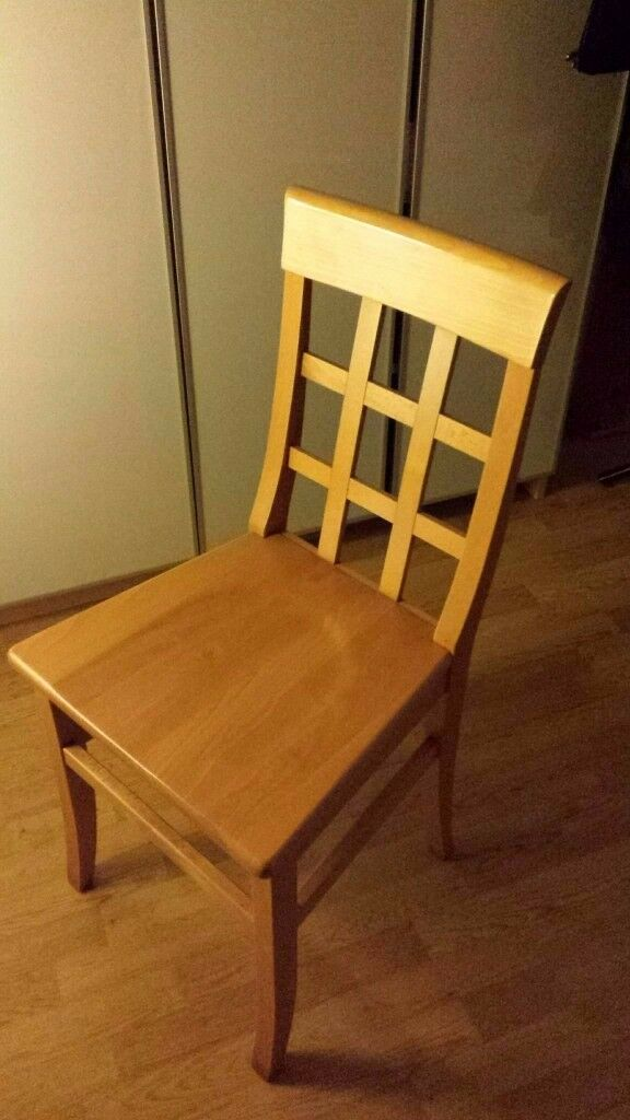 3 wooden chairs available for collection - perfect conditions - selling for moving out