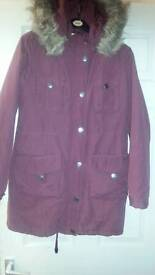 Ladies Parka coat size 12