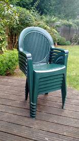 6 Grosfillex recliner garden chairs for sale