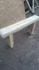 rustic pressure treated sleeper bench