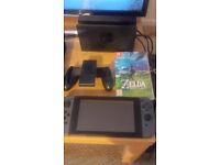 Nintendo Switch Console(Grey) w/Zelda Breath Of The Wild