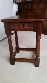 Old Charm Jaycee Solid Oak Small Lamp Side Table