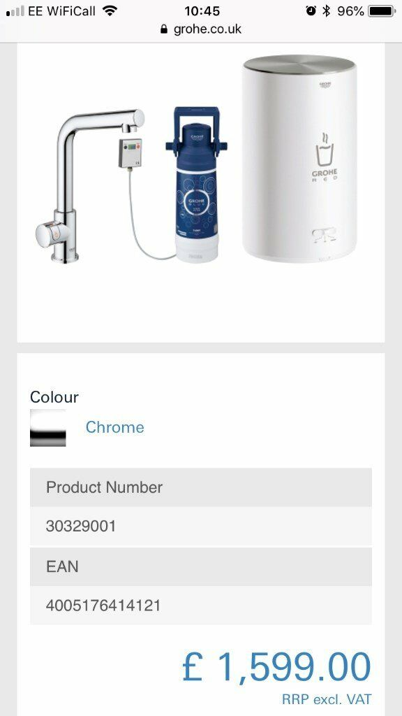 Grohe Red Instant Hot Water Tap System | in Weston-super-Mare, Somerset |  Gumtree