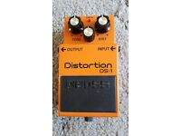 BOSS DS-1 CLASSIC DISTORTION PEDAL, £30.00;