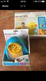 Munchkin Duck Bath and Bubble Blower. Brand New