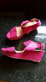 girls party wedges
