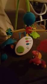 Cot spinning mobile toy
