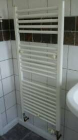 Towel Radiator. White. Straight. H. 112cm W. 50cm